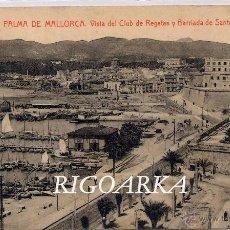 Postales: PALMA DE MALLORCA.- VISTA DEL CLUB DE REGATAS Y BARRIADA DE SANTA CATALINA. Lote 49423190