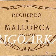 Postales: RECUERDO DE MALLORCA (BALEARES).- 1ª SERIE- ÁLBUM COMPLETO 20 POSTALES. Lote 49423254