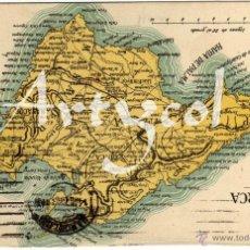 Postales: RARISIMA POSTAL - PLANO DE LA ISLA DE MALLORCA - EN REVERSO: PUBLICIDAD DE ANTONIO ESTEVA Y OLIVER . Lote 49603537