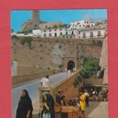 Postales: POSTAL-IBIZA-CIUDAD-MURALLA Y CATEDRAL-EXCLUSIVAS CASA FIGUERETAS-PM.036. Lote 49904200