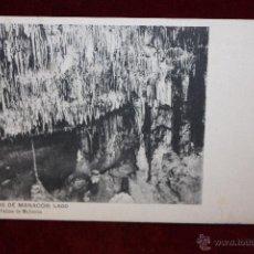 Postales: ANTIGUA POSTAL DE LAS CUEVAS DE MANACOR. MALLORCA. LAGO. HAUSER Y MENET. SIN CIRCULAR. Lote 49934584