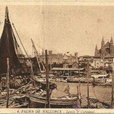 Postales: PALMA DE MALLORCA - Nº 4. LONJA Y CATEDRAL - 1939 - CIRCULADA. Lote 50051743