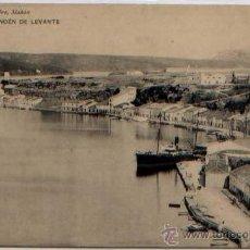 Postales: POSTAL MENORCA MAHON ANDEN DE LEVANTE ED. REMIGIO ALEJANDRE HAUSER Y MENET 1913. Lote 50206277