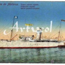 Postales: PRECIOSA POSTAL - PALMA DE MALLORCA - VAPOR CORREO RAPIDO - JAIME II. Lote 50327023