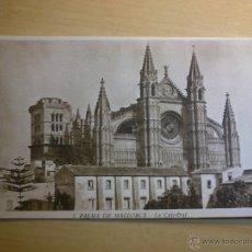 Postales: ANTIGUA POSTAL DE PALMA DE MALLORCA - LA CATEDRAL - 1 HUECOGRABADO MUMBRU. Lote 50922384