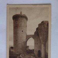 Postales: POSTAL DE MALLORCA CASTILLO DE BELLVER TORRE DEL HOMENAJE. Lote 51009621