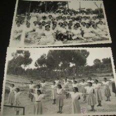 Postales: EL ARENAL PALMA DE MALLORCA 2 POSTALES FOTOGRAFICAS GRUPO JOVENES SECCION FEMENINA GIMNASIA AÑOS 40. Lote 51094866