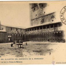 Postales: PRECIOSA POSTAL - PALMA DE MALLORCA - VISTA DEL CLAUSTRO DEL CONVENTO DE S. FRANCISCO . Lote 51094896