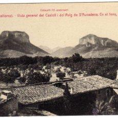 Postales: BONITA POSTAL - MALLORCA - ALARÓ - VISTA GENERAL DEL CASTELL I DEL PUIG DE S´AUCADENA - PUIG MAJOR. Lote 51119762