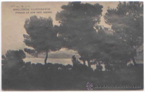 SERIE COMPLETA 12 POSTALES LLUCHMAYOR LLUCMAJOR ESTACION MERCADO HOTEL PLAZA MALLORCA ED. R. Y F. (Postales - España - Baleares Antigua (hasta 1939))