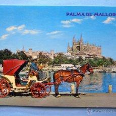 Postales - POSTAL DE MALLORCA. AÑOS 1968. PALMA, BAHÍA, LONJA, CATEDRAL, COCHE DE CABALLOS. 105 - 51604705