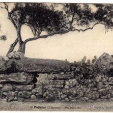 Postales: PRECIOSA POSTAL - POLLENSA (BALEARES - MALLORCA) - UN TALAYOTE - AMBIENTADA . Lote 51675999