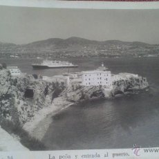 Postales: IBIZA (BALEARES, LA PEÑA Y ENTRADA AL PUERTO, FOTO VICENS Nº 34. Lote 51975167