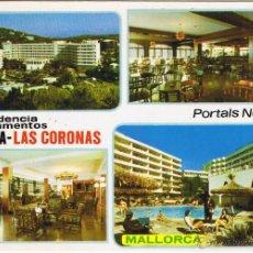Postales: MALLORCA - APARTAMENTOS HAFRIA - LAS CORONAS - PORTALS NOUS - CIRCULADA. Lote 52021804