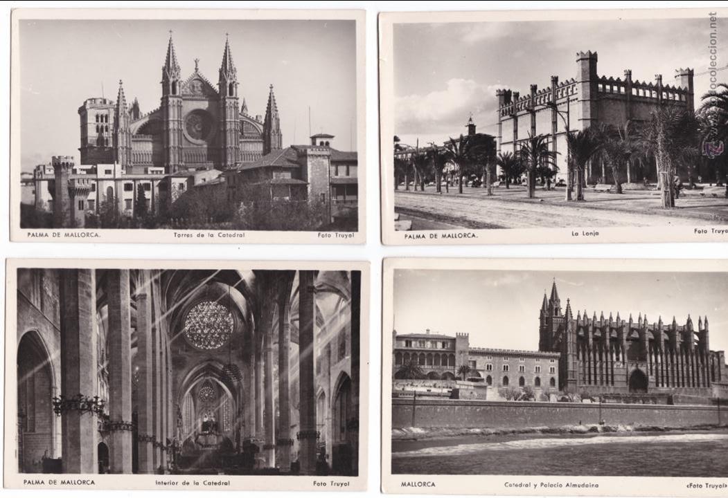 P- 2859. LOTE 7 POSTALES PALMA DE MALLORCA. CATEDRAL . FOTO TRUYOL. (Postales - España - Baleares Moderna (desde 1.940))