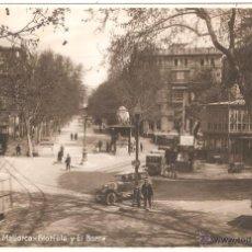 Postales: PALMA DE MALLORCA GLORIETA Y EL BORNE 1920. Lote 15752912
