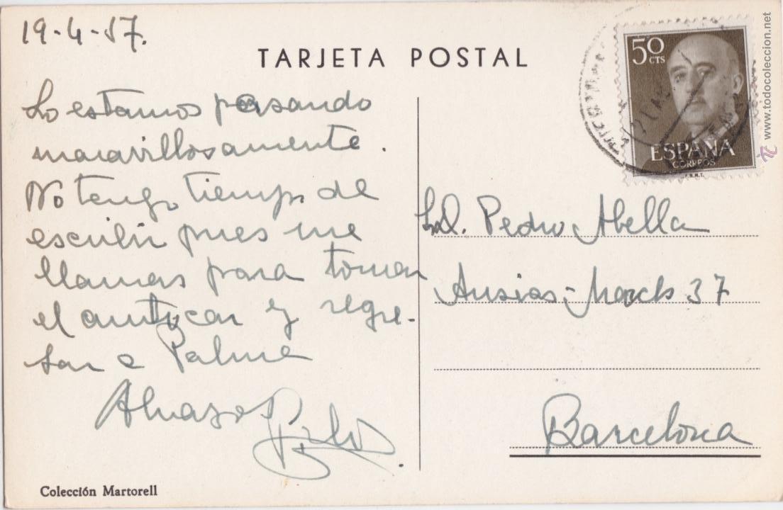 Postales: P- 3902. POSTAL DE FORMENTOR, MALLORCA, COLOMER Y CARRETERA. COLECCION MARTORELL. - Foto 2 - 53218310