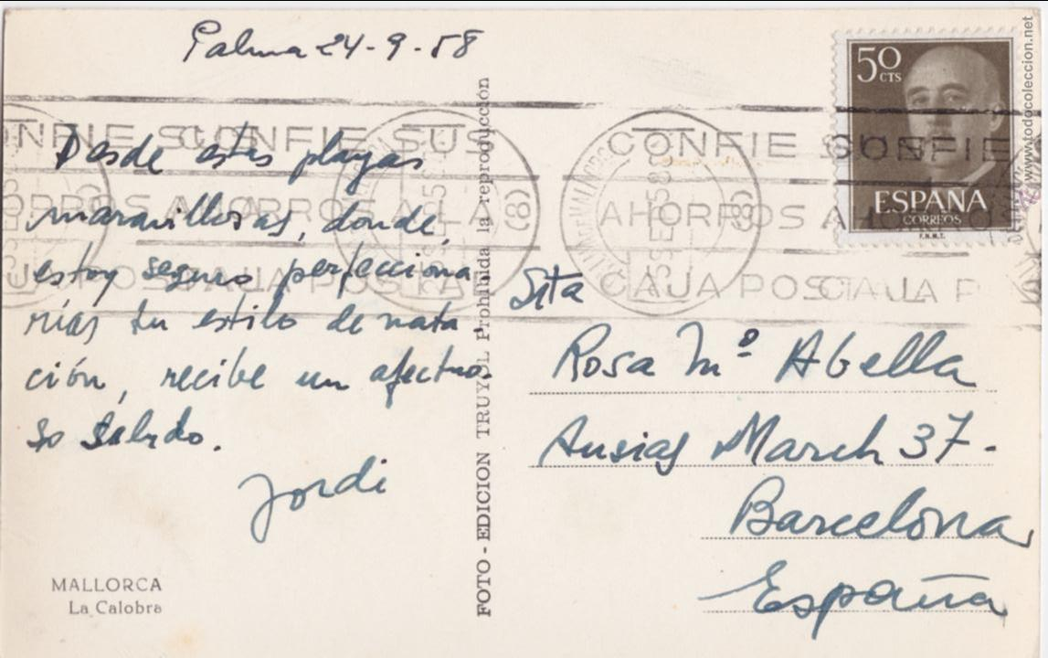 Postales: P- 3915. POSTAL MALLORCA. LA CALOBRA. TRUYOL. - Foto 2 - 53220476