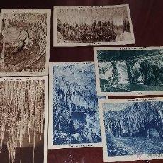 Postales: SEIS POSTALES DE CUEVAS DEL DRACH - MALLORCA -. Lote 53443559