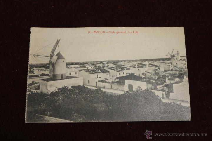 POSTAL MAHON, VISTA GENERAL, SAN LUIS, ED. BTUDURI (Postales - España - Baleares Antigua (hasta 1939))