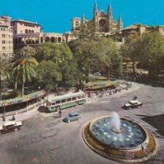 Postales: MALLORCA Nº 1674 PLAZA DE LA REINA PALMA DE MALLORCA CIRCULADA 12/10/68 FOT. ICARIA . Lote 53770033