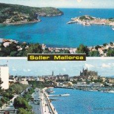 Postales: PALMA DE MALLORCA Nº 6081 PUERTO DE SOLLER Y PALMA DE MALLORCA FOTO ICARIA . Lote 53787861
