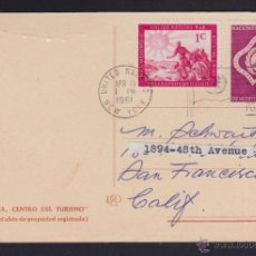 Postales: POSTAL DE MALLORCA, LA PALMA, CALLE DE LA SEO. FRANQUEO Y SELLOS DE NACIONES UNIDAS LA ONU 1961. Lote 53998034