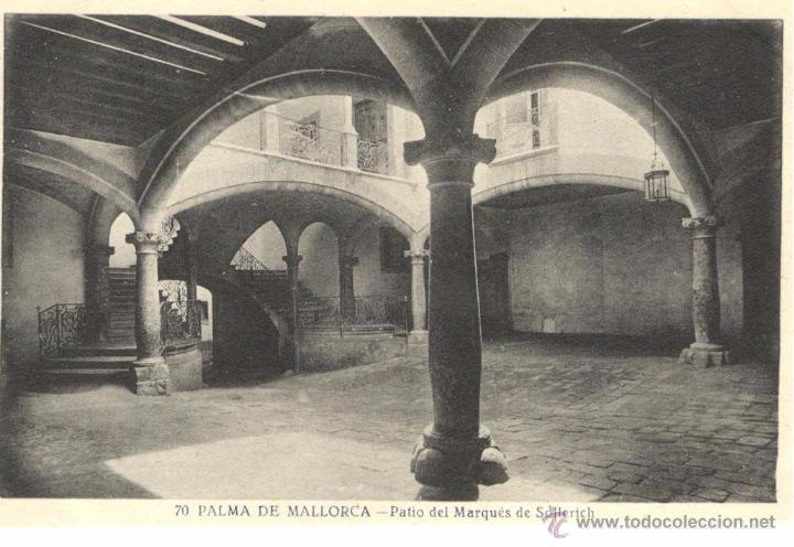 POSTAL DE PALMA DE MALLORCA - PATIO DEL MARQUES DE SOLLERICH (Postales - España - Baleares Antigua (hasta 1939))
