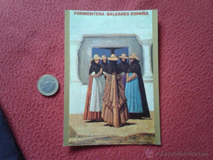TARJETA POSTAL POST CARD ISLAS BALEARES FORMENTERA ESPAÑA CARTELES TURISTICOS RADIO EXTERIOR DE REE (Postales - España - Baleares Moderna (desde 1.940))