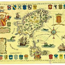 Postales: PS6011 IBIZA 'ISLA DE IIBZA AL GENERAL VARA DEL REY'. R. FORMIGUERA. CIRCULADA. 1974. Lote 51727765