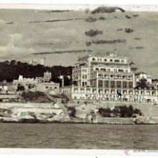 Postales: PS5423 PALMA DE MALLORCA 'CASTILLO DE BELLVER Y HOTEL MEDITERRÁNEO'. FOTOGRÁFICA. 1945. Lote 46348360