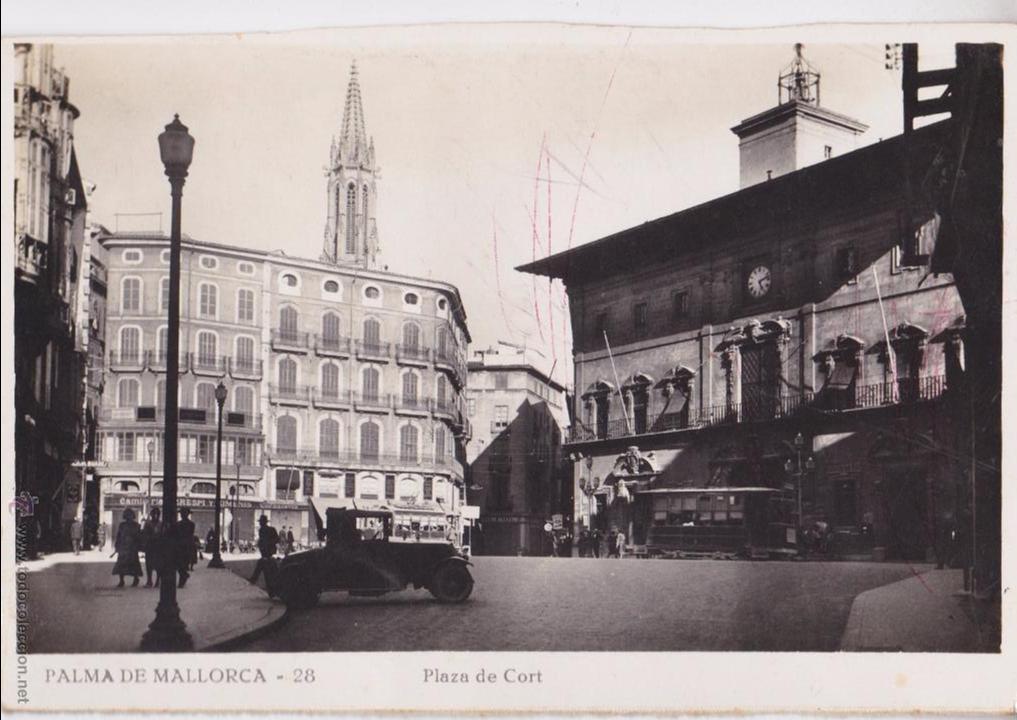 P- 4654. POSTAL DE PALMA DE MALLORCA. PLAZA DE LA CORT Nº28. (Postales - España - Baleares Moderna (desde 1.940))