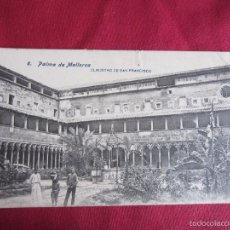 Postales: MALLORCA - PALMA DE MALLORCA - CLAUSTRO DE SAN FRANCISCO. Lote 55172283
