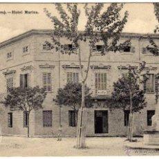 Postales: BONITA Y RARA POSTAL - SOLLER - BALEARES - HOTEL MARINA - AMBIENTADA - CARRO . Lote 55340940