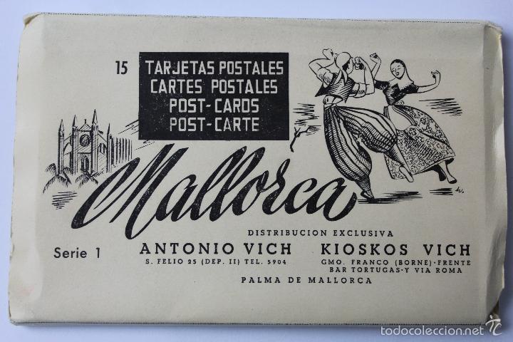 BP-73. MALLORCA. CUADERNO CON 15 POSTALES EN ACORDEON.SERIE 1. ANTONIO VICH. PALMA MALLORCA. (Postales - España - Baleares Moderna (desde 1.940))
