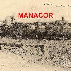 Postales: MANACOR DES DEL CAMÍ DE LA MAR (1890?). Lote 55917078