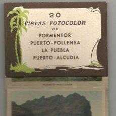 Postales: 20 VISTAS FOTOCOLOR DE FORMENTOR, POLLENSA, LA PUEBLA, ALCUDIA - ACORDEON POSTALES MINIATURA (8X5,5). Lote 56302733