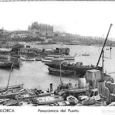 Postales: PALMA DE MALLORCA.- PANORÁMICA DEL PUERTO. Lote 56426878