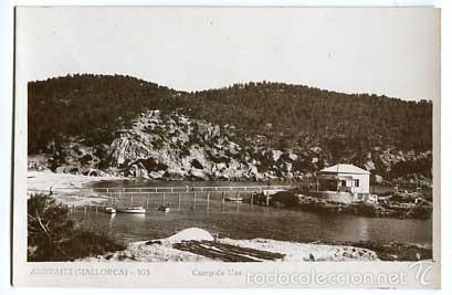 MALLORCA ANDRAITX CAMP DE MAR POSTAL FOTOGRÁFICA, SIN CIRCULAR (Postales - España - Baleares Antigua (hasta 1939))