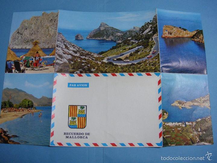 ANTIGUA POSTAL DESPLEGABLE RECUERDO DE MALLORCA. SIN USAR. (Postales - España - Baleares Moderna (desde 1.940))