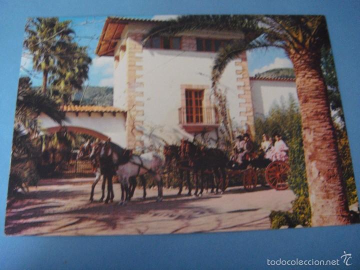 POSTAL MALLORCA. BARBACOA FIESTA ANDALUZA. POSTAL ESPORLAS. MALLORCA. CARRETERA S´ESGLAYETA. 1975 (Postales - España - Baleares Moderna (desde 1.940))