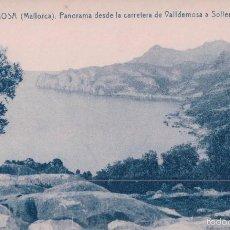Postales: POSTAL 11 VALDEMOSA(MALLORCA).- PANORAMA DESDE LA CARRETERA DE VALLDEMOSA A SOLLER. THOMAS. Lote 58114041