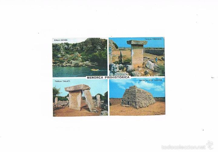 POSTAL ANTIGUA MENORCA SIN CIRCULAR MENORCA PREHISTORICA (Postales - España - Baleares Moderna (desde 1.940))