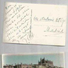 Postales: PALMA DE MALLORCA. LA LONJA Y LA CATEDRAL FOTOGRAFÍA PINTADA.SIN CIRCULAR.ESCRITA.. Lote 59045990