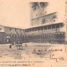 Postales: MALLORCA.- VISTA DEL CLAUSTRO DEL CONVENTO DE S. FRANCISCO. Lote 61393411