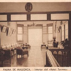 Postales: PALMA DE MALLORCA.- INTERIOR DEL HOTEL TERRENO. Lote 61394319