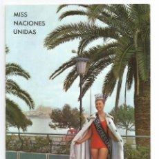 Cartes Postales: PALMA DE MALLORCA .- MONICA RAGBY .- MISS SUECIA .- MISS NACIONES UNIDAS 1963. Lote 61831396