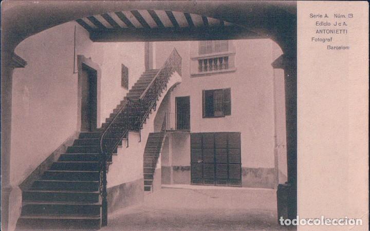 POSTAL MALLORCA.- PATIO MALLORQUIN SERIE A NUM.13. H.A.E. (Postales - España - Baleares Antigua (hasta 1939))