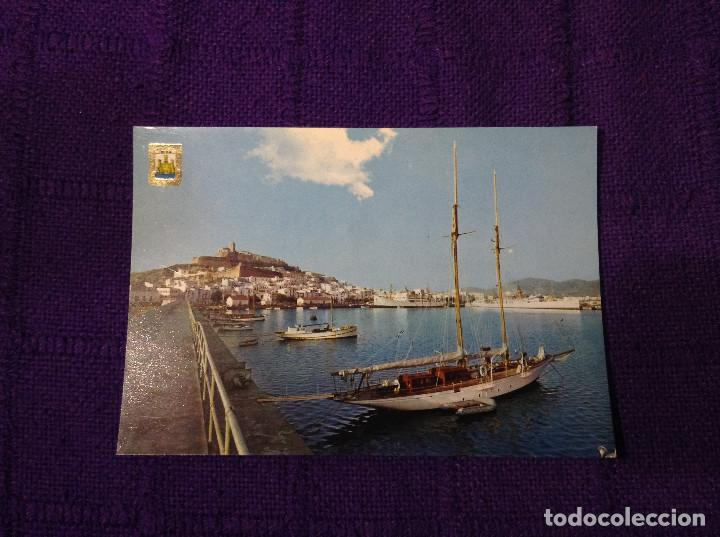 POSTAL DEL PUERTO EN IBIZA - ISLAS BALEARES - ESCUDO DE ORO Nº 7 - SUBI - BARCOS BARCO (Postales - España - Baleares Moderna (desde 1.940))