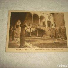 Postales: MALORCA SERIE IV . 7 PATIO BARROCO MALLORQUIN . 1 MITAD SIGLO XVIII . SIN CIRCULAR. Lote 66744310